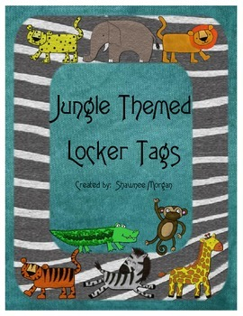 Jungle Themed Locker Name Plates