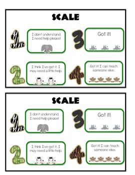Jungle Themed Marzano Monitoring Scale
