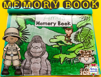 Memory Book Jungle Theme