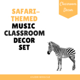 Jungle-Themed Music Classroom Decor Set