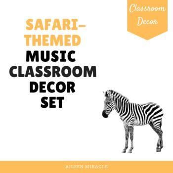 Jungle-Themed Music Classroom Decor Set