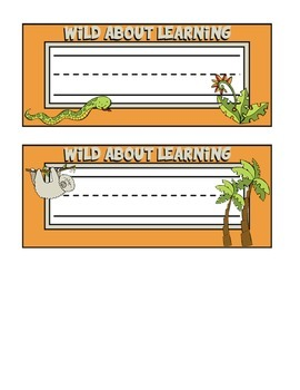 Jungle Themed Nameplates