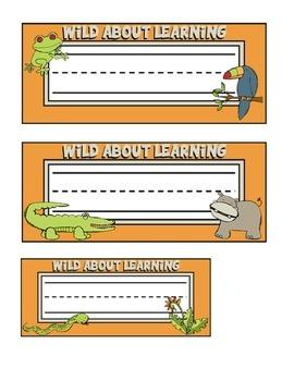 Jungle Themed Nameplates