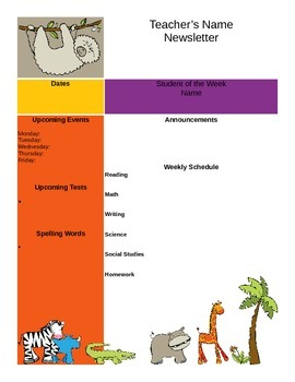 Jungle Themed Newsletter Template