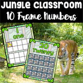 Jungle Theme 10 Frame Cards 0-20