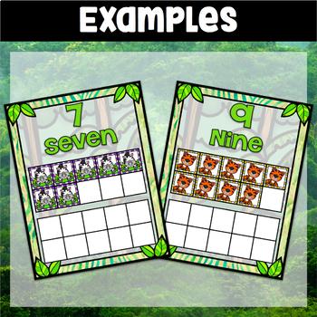 Jungle Theme 10 Frame Cards 0-20