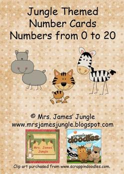 Jungle Themed Number Cards