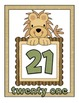 Jungle Theme Number Cards 21-30