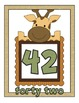Jungle Theme Number Cards 41-50