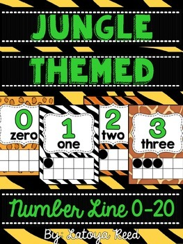Jungle Themed Number Line 0-20