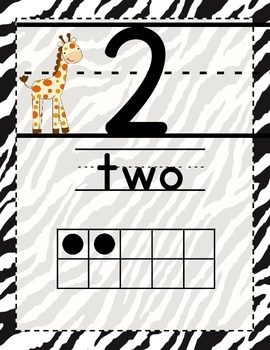 Jungle Themed Number Posters 1-20