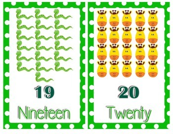 Jungle Themed Number Posters (Number 1 to 20)