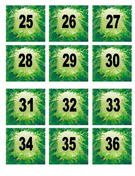 Jungle Themed Numbers 1-180