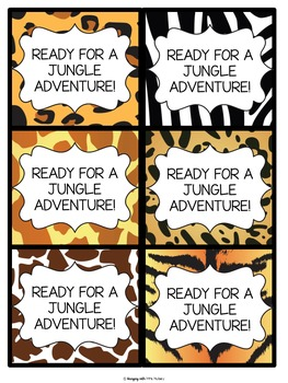 Editable Jungle Themed Open House Documents