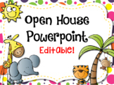 Wild About Learning - Jungle Themed Open House Powerpoint
