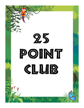 Jungle Themed Point Club Posters