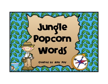 Jungle Themed Popcorn Words