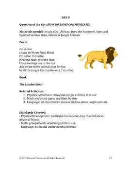 Jungle Themed Pre-School Lesson Plans