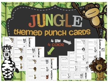 Jungle Themed Punch Cards