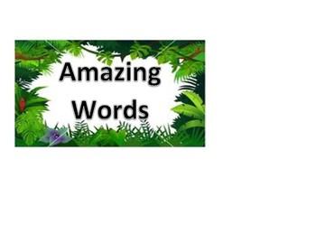 Jungle Themed Reading Wall