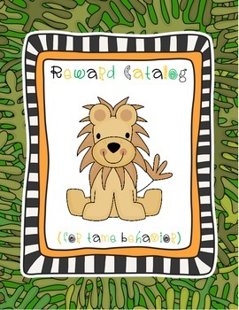 Jungle Themed Reward Catalog