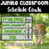 Jungle Theme Schedule Cards - Over 60 Cards *Now Editable*
