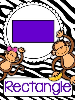 Jungle Themed Shape Posters 2D and 3D Full Size and Mini