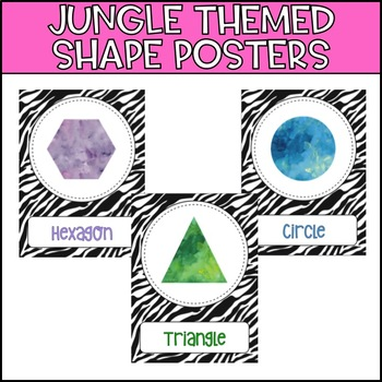Jungle Themed Shape Posters