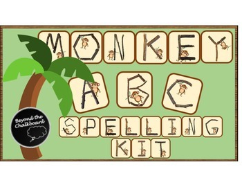Jungle Themed Spelling Kit with Monkey Alphabet