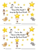 Jungle Themed Star Student Certificates