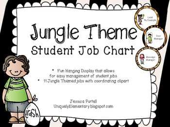Jungle Themed Student Job Chart
