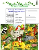 Jungle Themed- Student Welcoming Postcard
