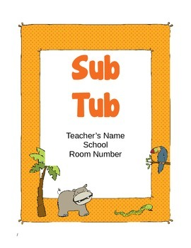 Jungle Themed Substitute Materials