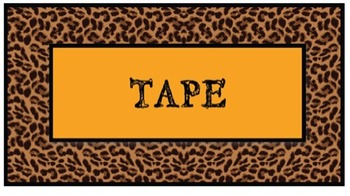Jungle Themed Teacher Toolbox Labels - Set 2