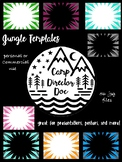 Jungle Themed Templates for Powerpoint, Keynote, posters,