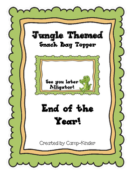 Jungle Themed Topper - End of the year!