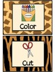 Jungle Themed Visual Direction Cards