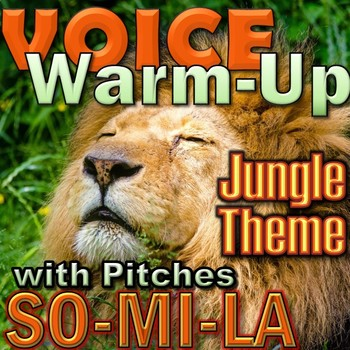 Jungle Theme Voice Warm up with Recordings - Elementary Mu