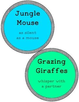 Jungle Themed Volume Clip Chart