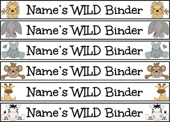 Jungle Binder Covers and Spines