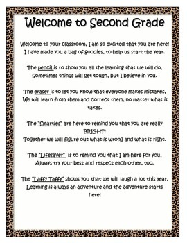 Jungle Themed Welcome Letter