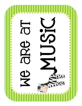 """Jungle Themed """"Where We Are"""" Cards"""