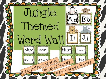 Jungle Themed Word Wall - K and 1st