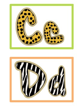 Jungle Themed Word Wall Cards