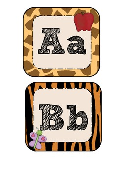 Jungle Themed Word Wall & Sight Word Cards