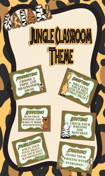 Jungle Themed Writing Stages