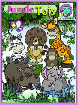 Jungle Tots Clipart (10 FREE Elements included!)  Embellish Yourself Artworks