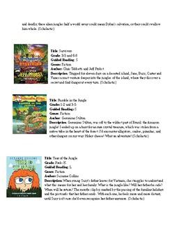 Jungle Unit Book List