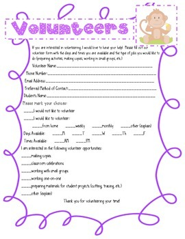 Jungle Volunteer Form