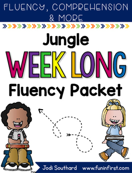 Jungle Week Long Fluency Packet